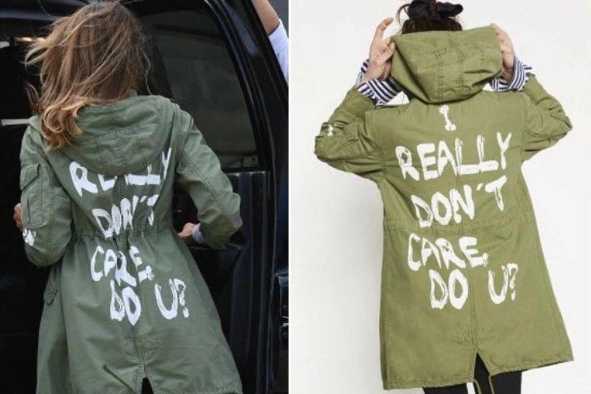 Melania Trump's Tacky Zara Jacket Selling for Insane Prices Online