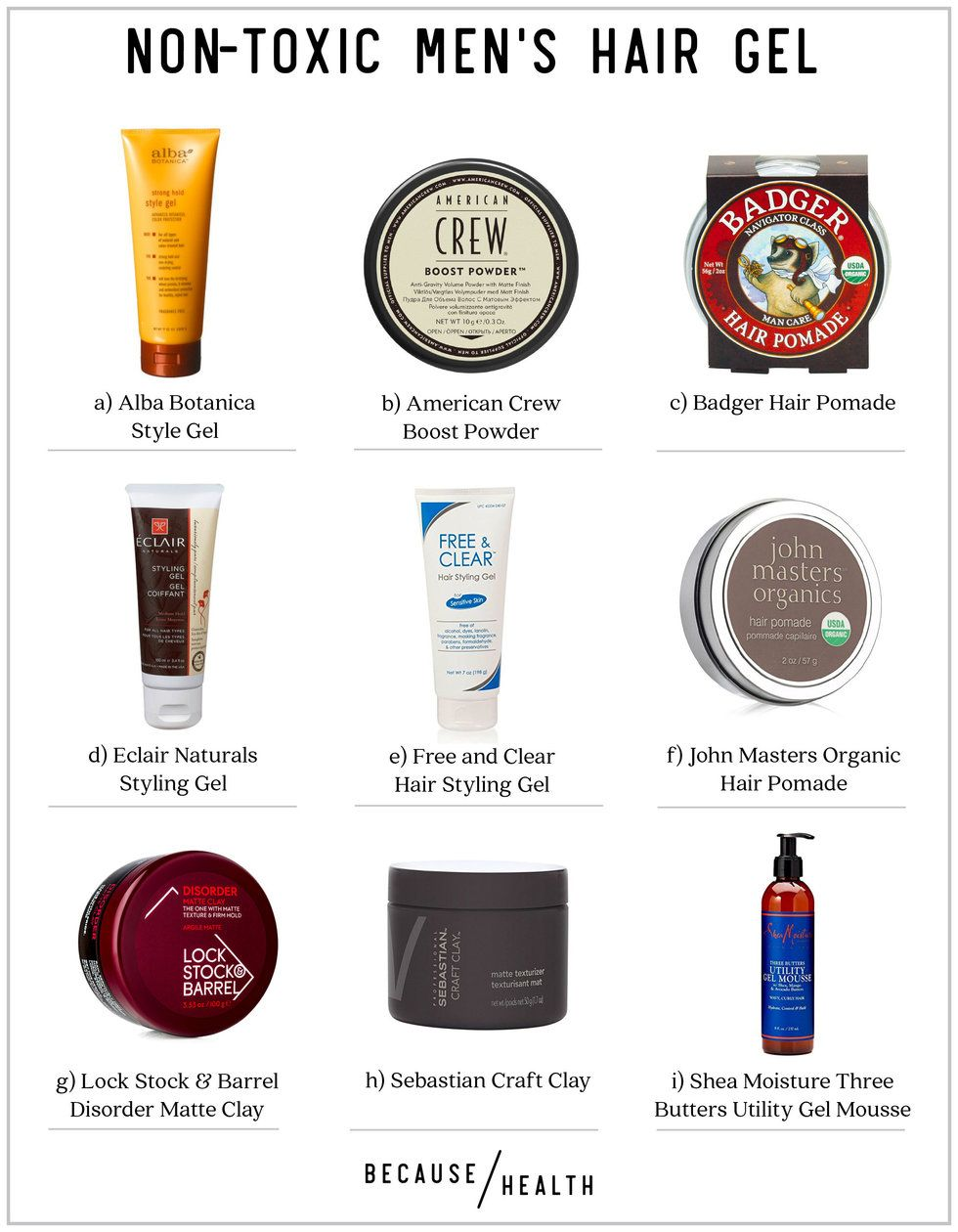 9 Non-Toxic Men's Hair Gel Options - Because Health