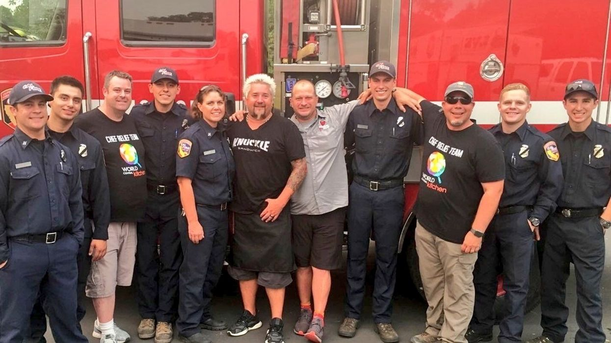 Chefs Guy Fieri and José Andrés Feed Thousands of California Wildfire Victims