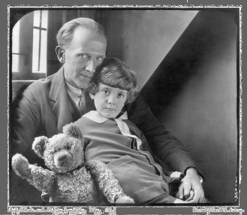 A.A. Milne; Christopher Robin Milne and Pooh Bear