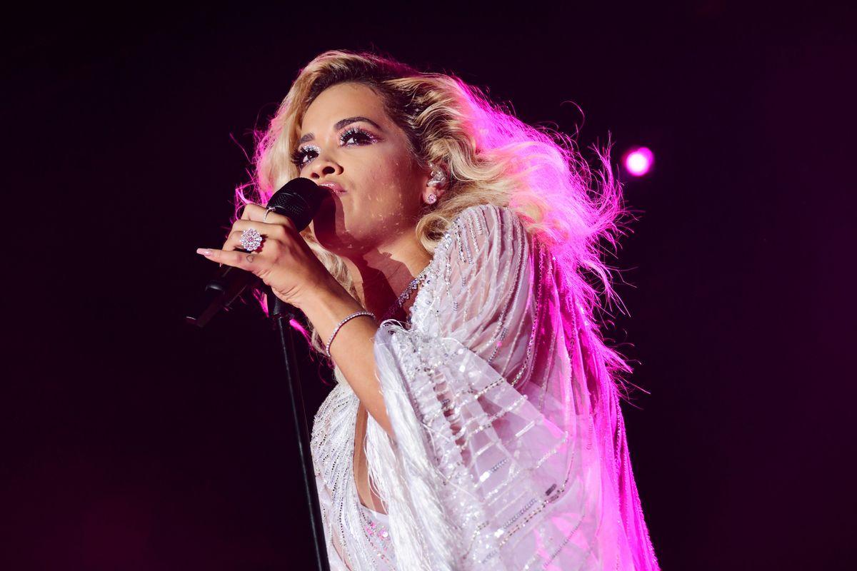 Rita Ora Goes Full Beach Siren