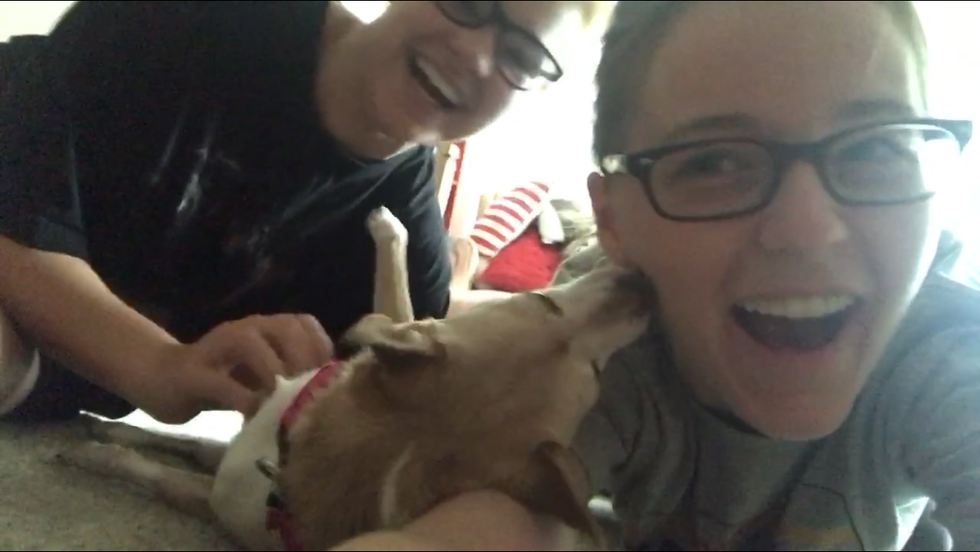 My best friend, her chihuahua, and me