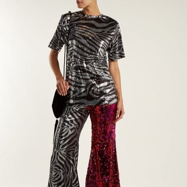 BRB Buying: This Glittery Zebra Ensemble From A Studio 54 Fantasy