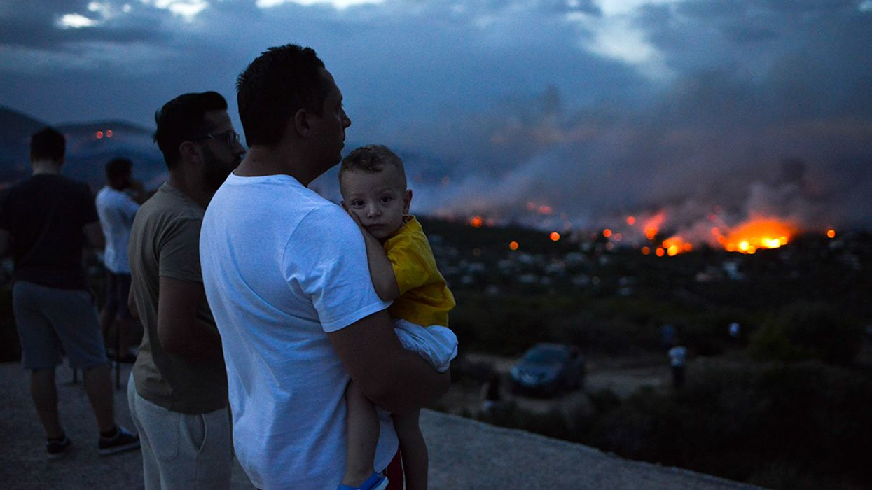 Wildfires Erupt in Greece, Killing Scores and Injuring More Than 100