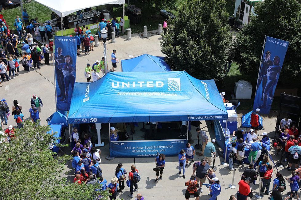 346b2934cf99 Aerial view of United s tent at the Day of Inclusion events