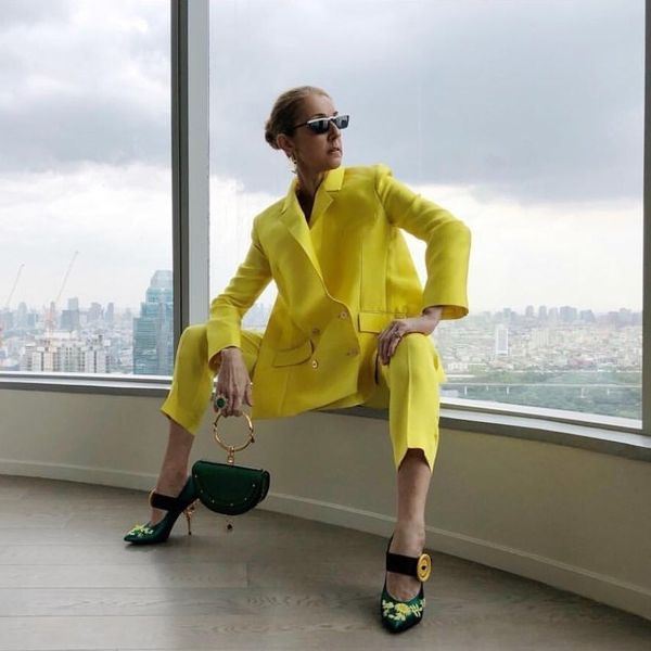 Celine Dion's Lemon-Yellow Suit Sparked a Giant Meme