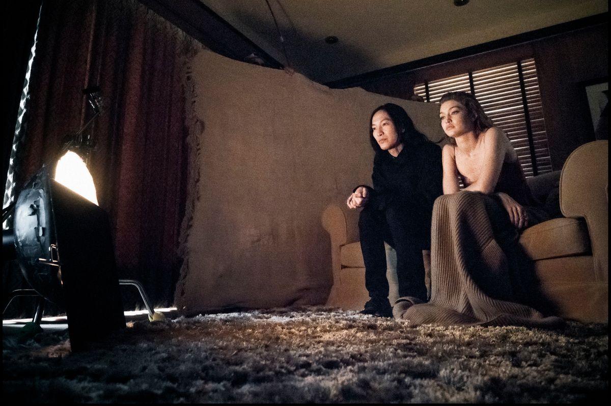 Gigi Hadid and Alexander Wang on Their Pirelli Calendar Shoot