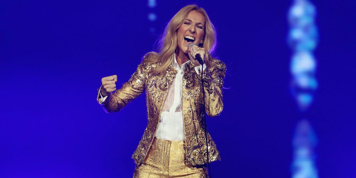 Celine Dion's Power Suit Reign Continues