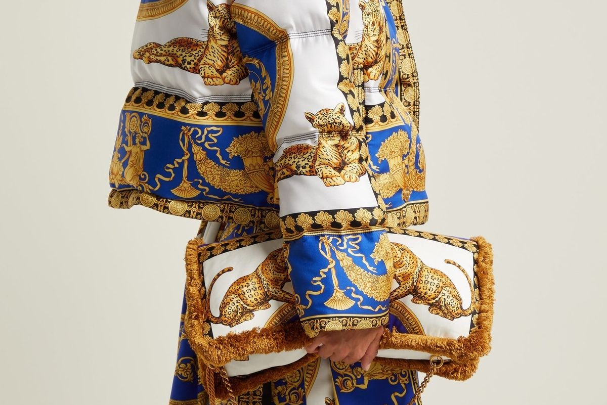 BRB Buying: This Head-to-Toe Versace Scarf Look