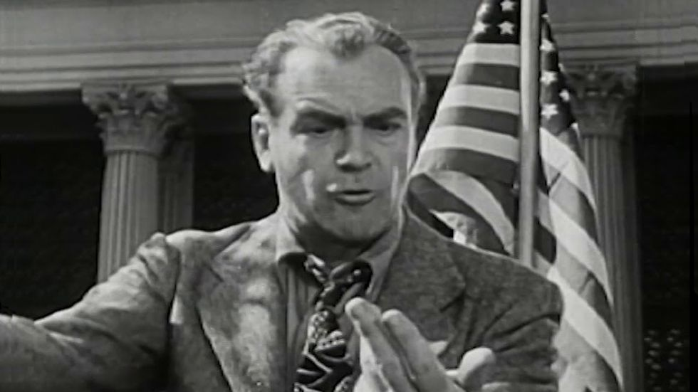 """A still from the War Department's """"Don't Be a Sucker"""" Anti-Fascist educational video."""