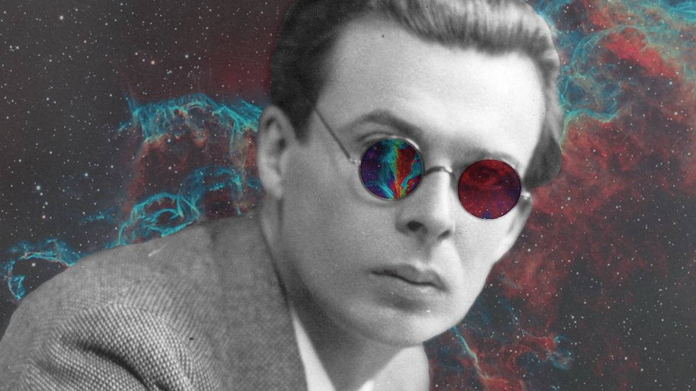 Aldous Huxley tripping.