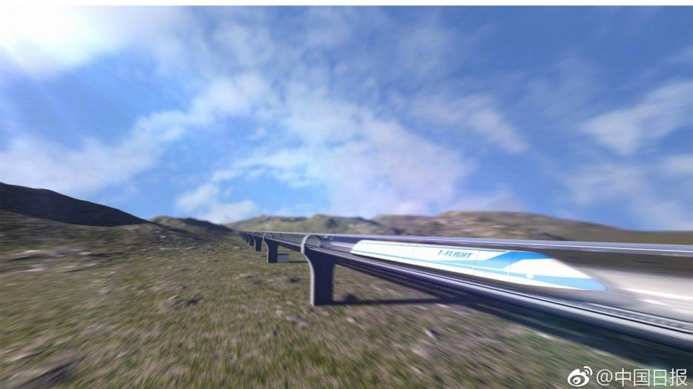 "China Is Making a 2,500mph ""Flying Train"" to Compete With Elon Musk's Hyperloops"