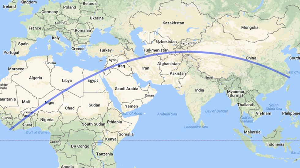 The Longest Walk On Earth Takes You From China to Liberia (or Vice Versa)