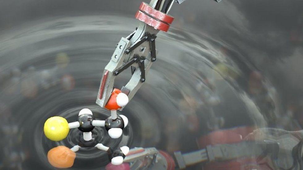 Arm of a molecular robot.
