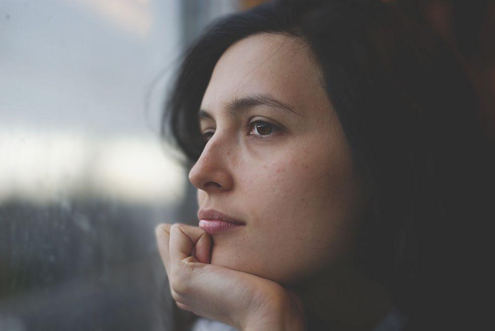 Pensive woman.