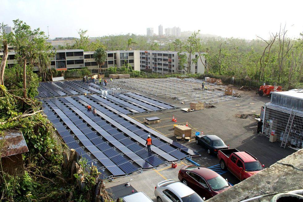 Tesla solar panel field in Puerto Rico.