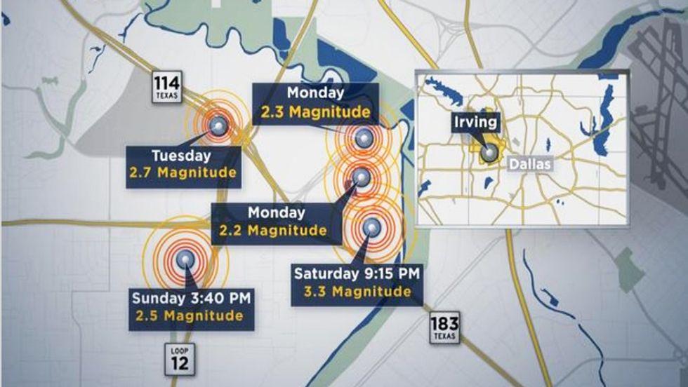 Quakes in Texas