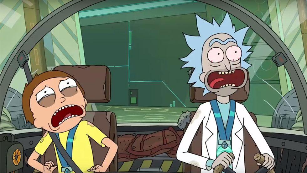 Image: 'Rick and Morty' on Adult Swim
