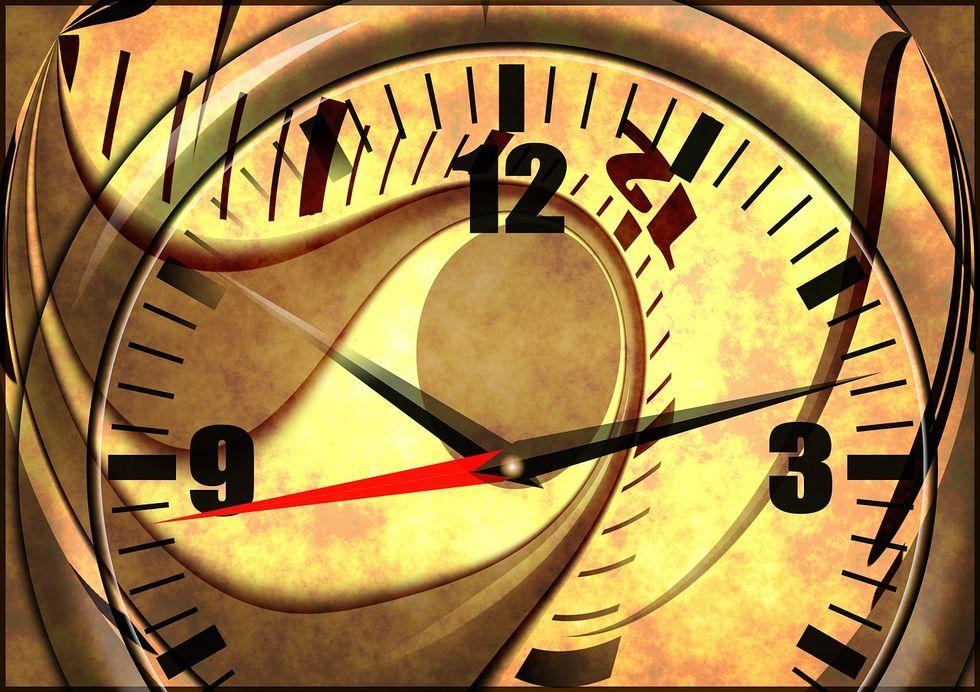 Trippy clock.