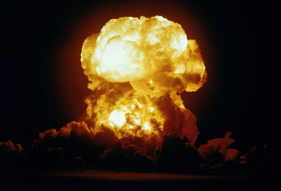View of the Badger nuclear explosion