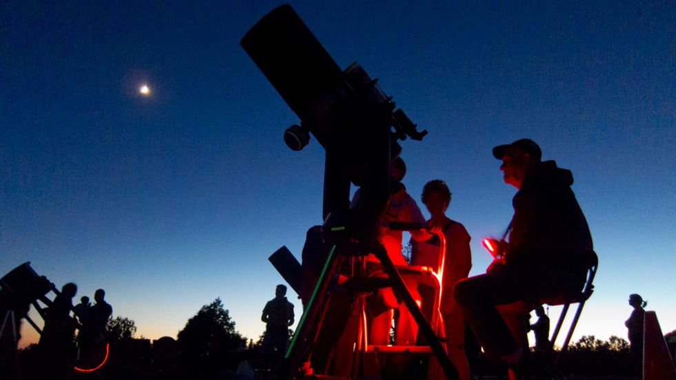 Amateur astronomers at Grand Canyon National Park