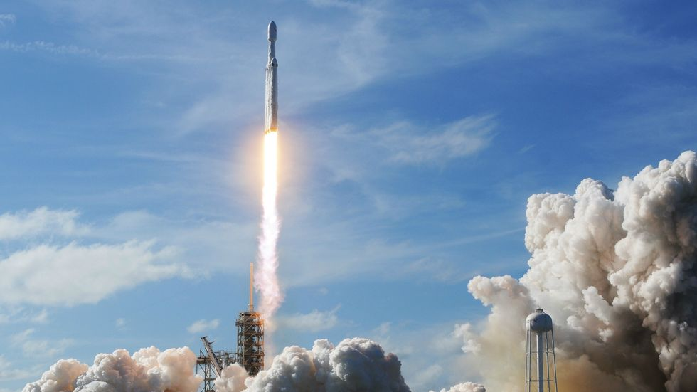 Falcon Heavy launches at Cape Canaveral, photo by Jim Watson/Getty