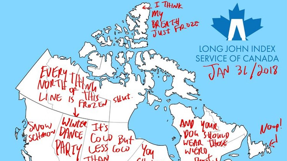 Should you wear long johns? There's a map for that