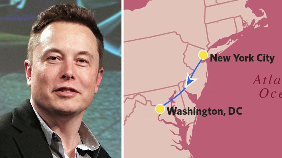 Elon Musk gets permit to build a hyperloop between New York and D.C. Next up, Chicagoland!