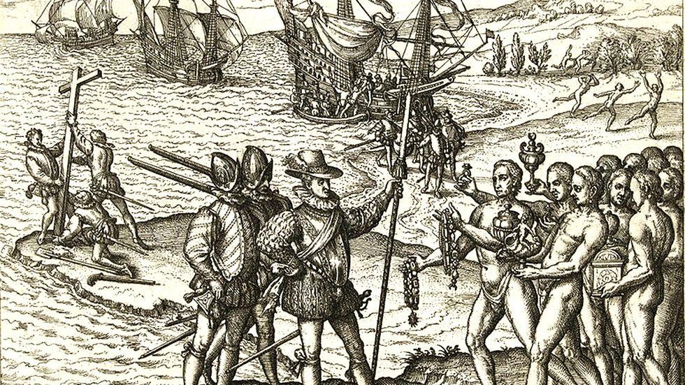 Columbus lands