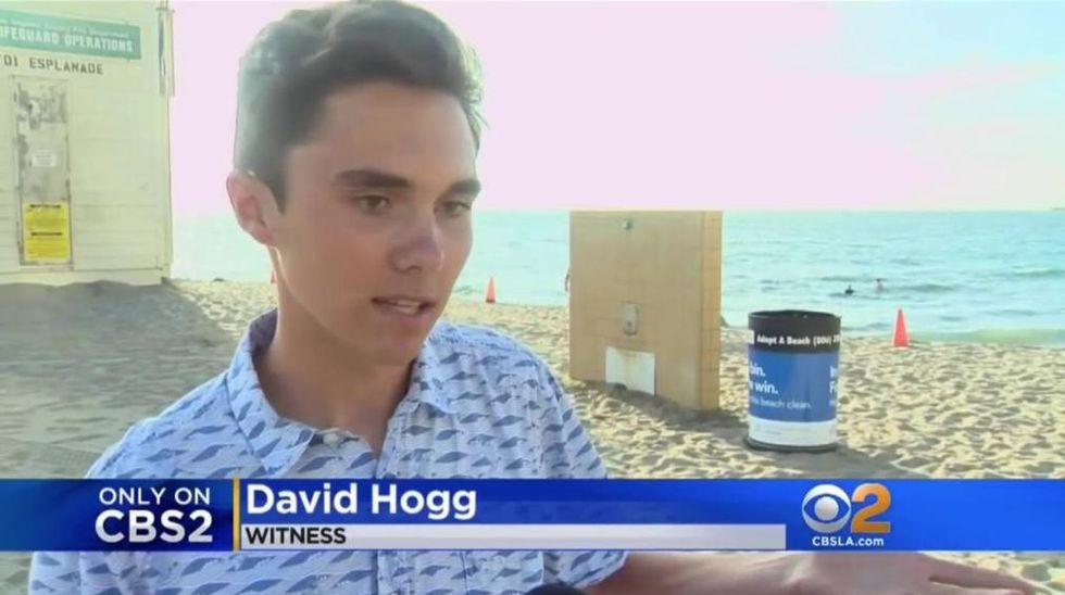 Stoneman Douglas shooting survivor David Hogg interviewed in unrelated local news story