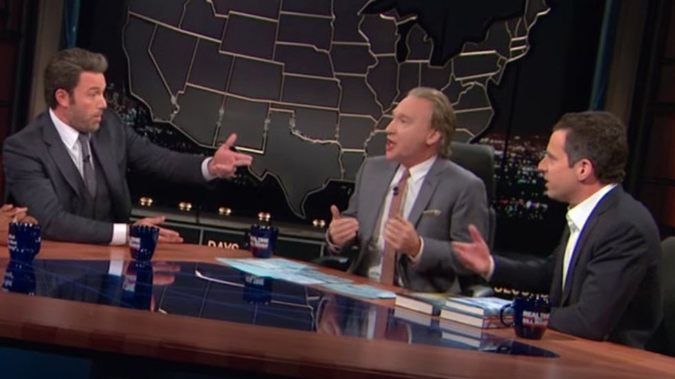 Sam Harris and Ben Affleck go head-to-head on Real Time with Bill Maher.
