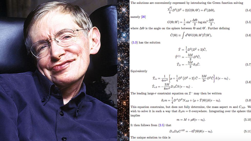 Stephen Hawking and his final paper