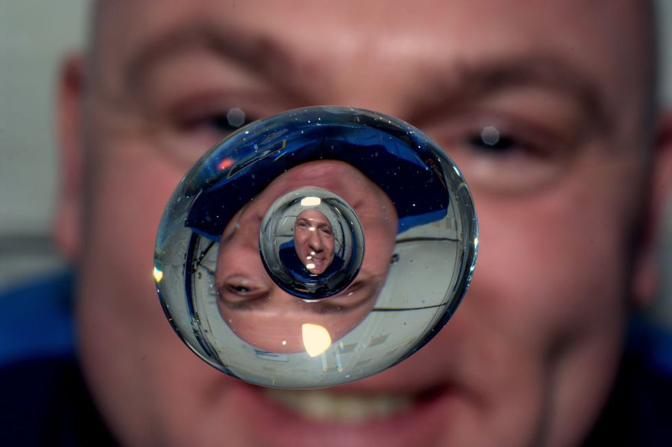 André Kuipers on the International Space Station.