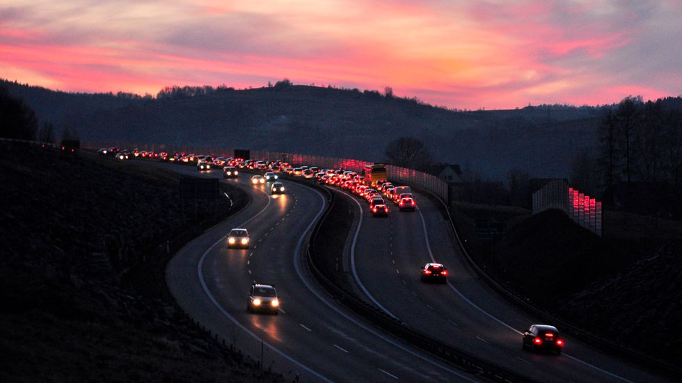 Sunset commute. (Photo: Joanna Pędzich-Opioła)
