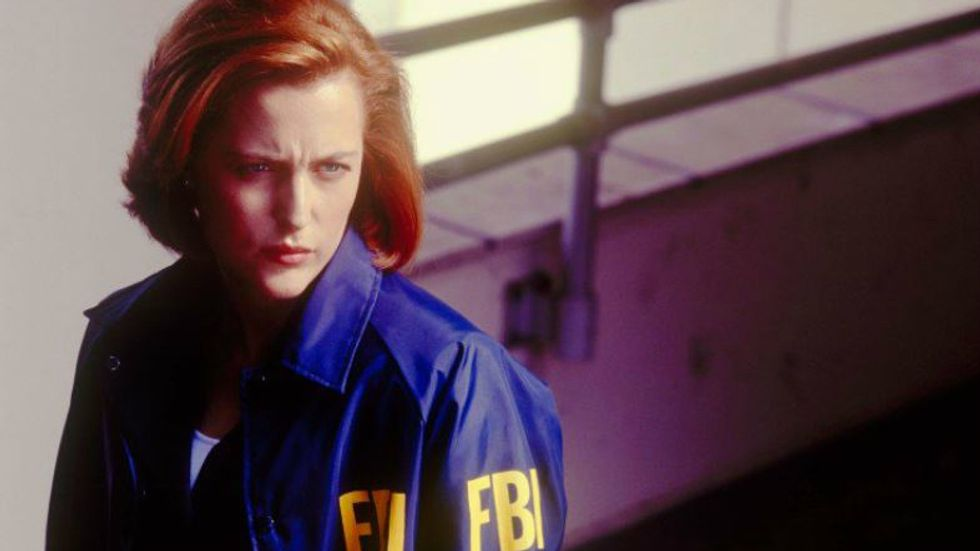 """Gillian Anderson as Dana Scully on """"The X-Files"""" (Photo: Fox Broadcasting Company)"""