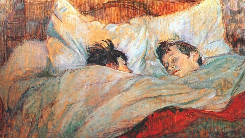The Bed by Henri de Toulouse-Lautrec.