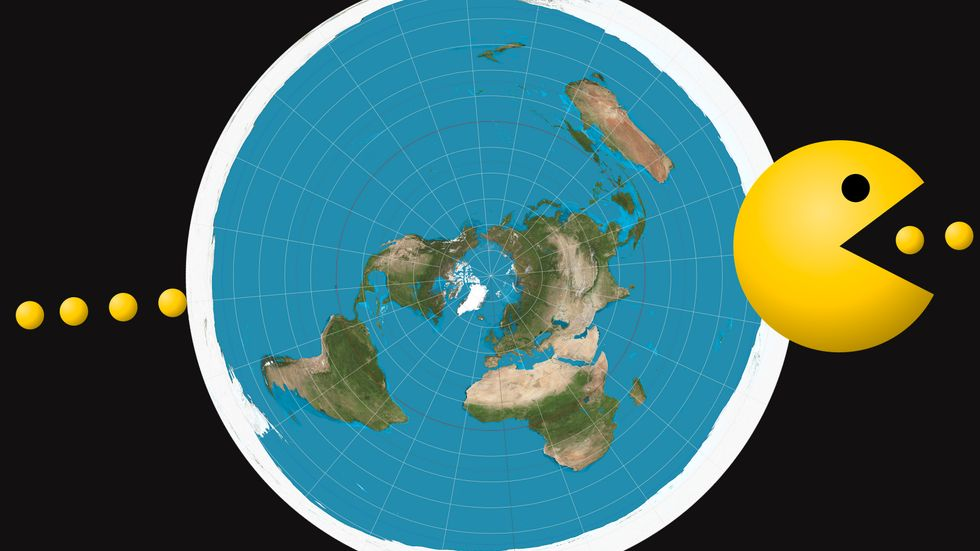 The flat Earth community just held its first-ever convention in Britain. (Image: Creative Commons/Big Think)