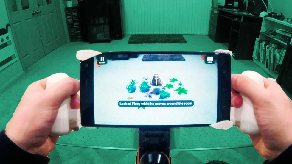 An augmented reality game that helps stroke victims recover. (Photo: Petrie, et al)