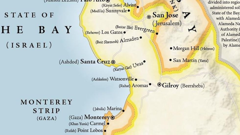 Map Turns San Francisco Bay Area Into The Middle East Big Think • two thoughtfully designed layouts: map turns san francisco bay area into