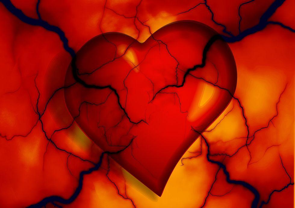 A heart encased in fractals.