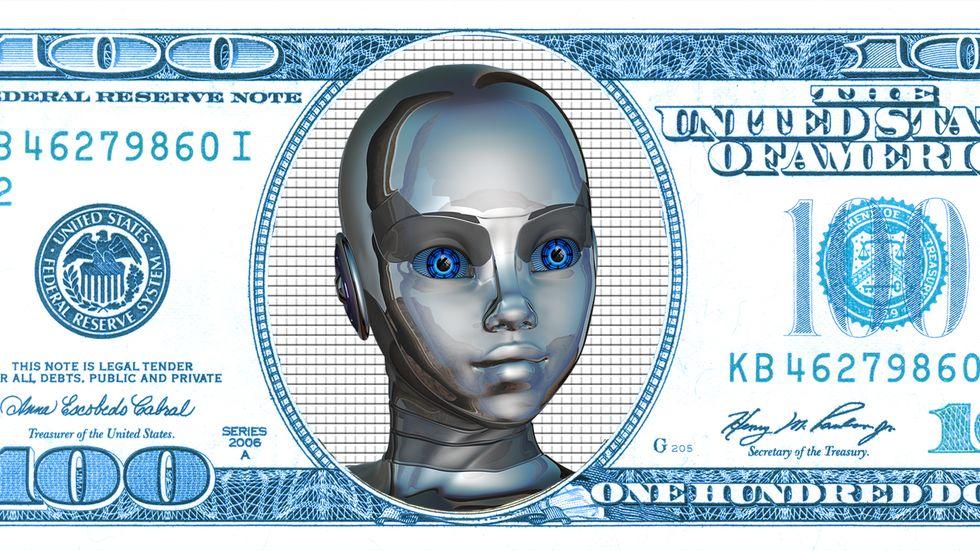 A robot dollar.
