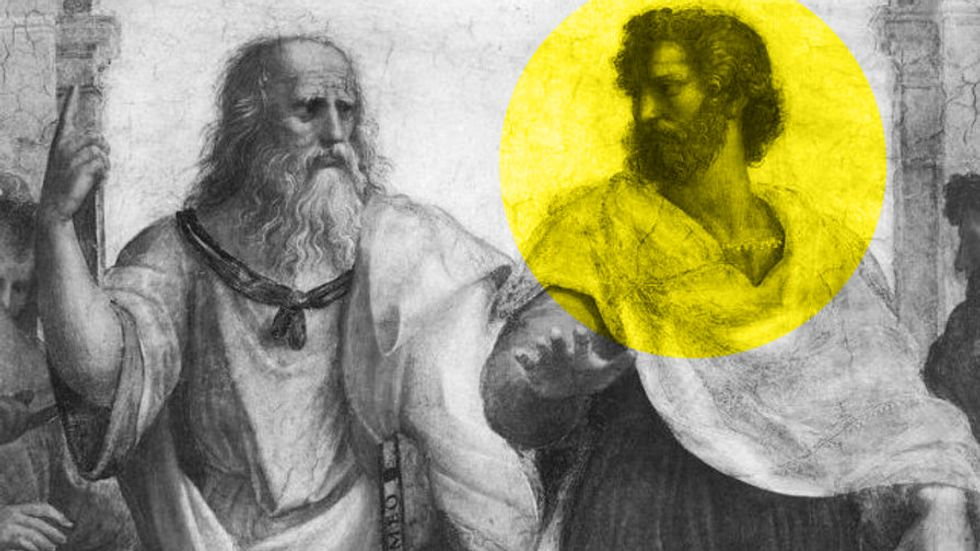 Plato, left, and Aristotle, right, as depicted by Raphael.