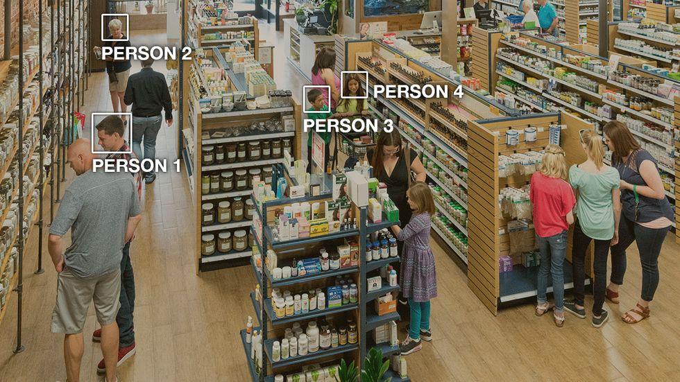 Amazon's facial recognition software Rekognition. (Image: Amazon)