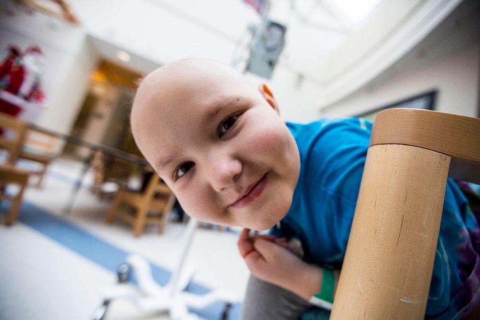Hailey Steward, an 8-year-old girl with leukemia at the Barbara Bush Children's Hospital at Maine Medical Center.