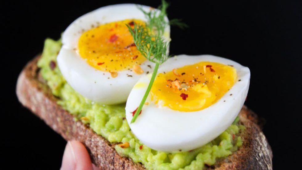 Eggs on toast.