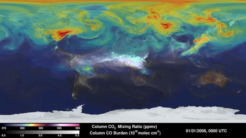 Image of the Carbon Monitoring System via NASA