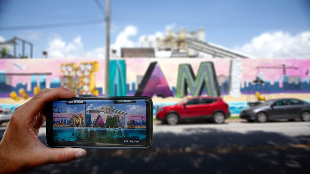 Street Art and Augmented Reality Get Real About Climate in Miami