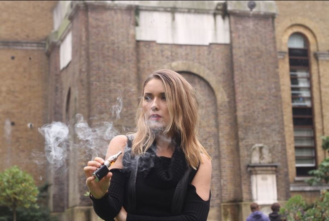 Flickr- Woman vaping