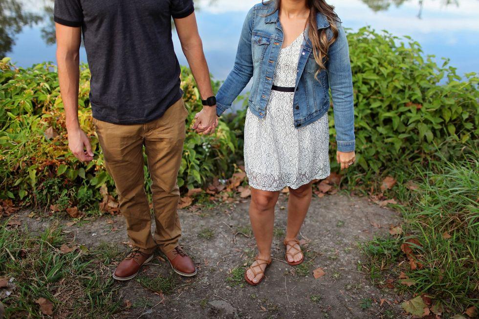https://www.pexels.com/photo/couple-denim-jacket-fashion-foliage-618924/