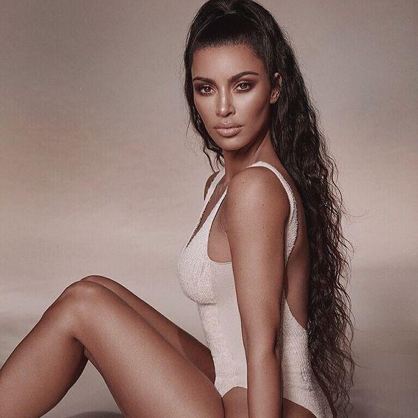 Kim Kardashian Turns Bike Shorts Into a Swimsuit